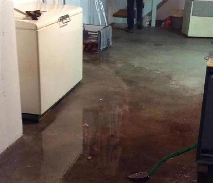 Water in a Randolph Basement Before