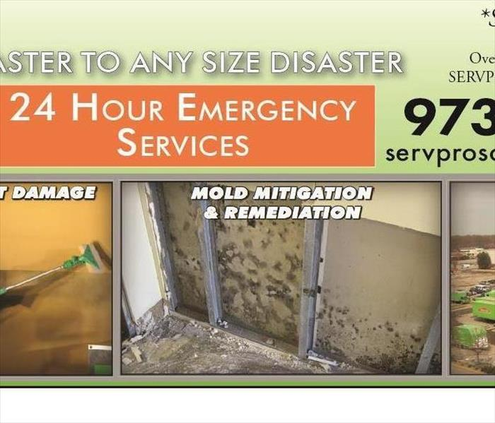 SERVPRO Banner Means 24/7/365 Emergency Help for Our Morris County