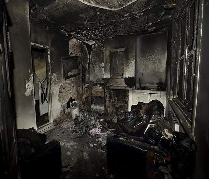 Home after a horrible fire
