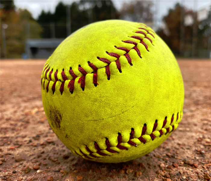 a softball on the field